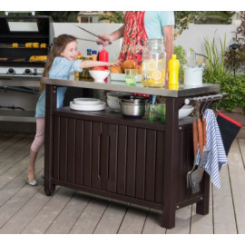 Keter Unity XL Outdoor 78Gal. Storage Table