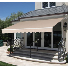 Retractable Patio Awning w/ Aluminum Frame