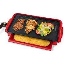 Taco Tuesday Nonstick Fiesta Griddle w/ Warmer